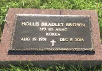The Foot Marker for Hollis Bradley Brown