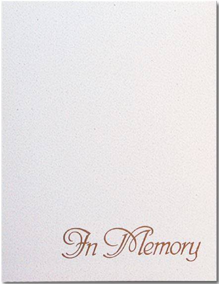 In Memory Register Book Package