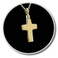 Gold Vermeil Cross Keepsake Pendant