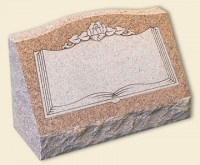 Single Slant Style Pink Granite