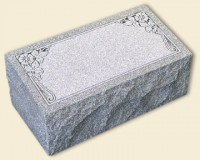 Single Bevel Style Gray Granite