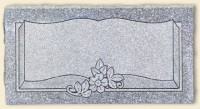 Single Flush Style Gray Granite
