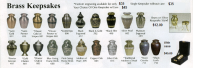 Brass Keepsakes which Match Adult Sized Brass Urns