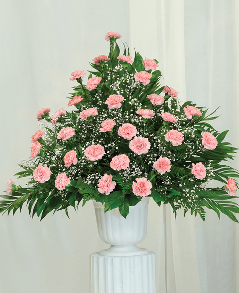 Traditional Carnation Urn