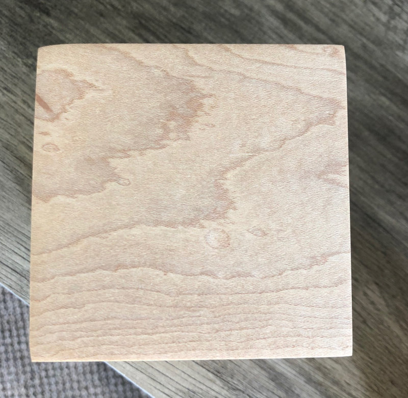Square Wood Box Urn