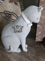 Faithful Angel Cat Figurine (not an urn)