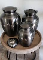 Slate Paw Track Urns