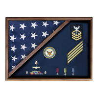 Flag Case with Medal Holder