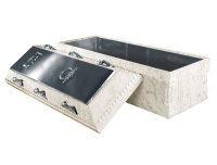 Elite White Marble Stainless Steel