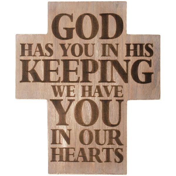 In His Keeping Wall Cross