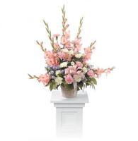 Sweet and Warm Remembrance Pedestal Arrangement