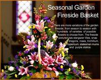 Seasonal Garden Fireside Basket